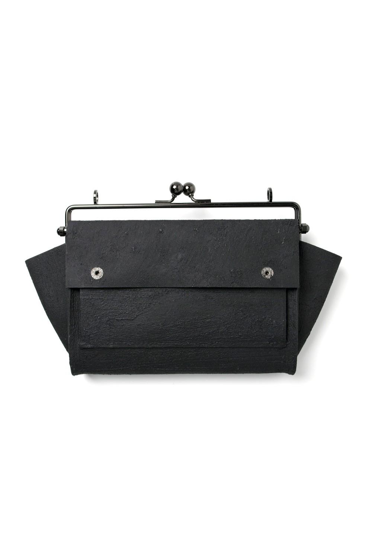 何かのパーツ長財布 [黒い壁]