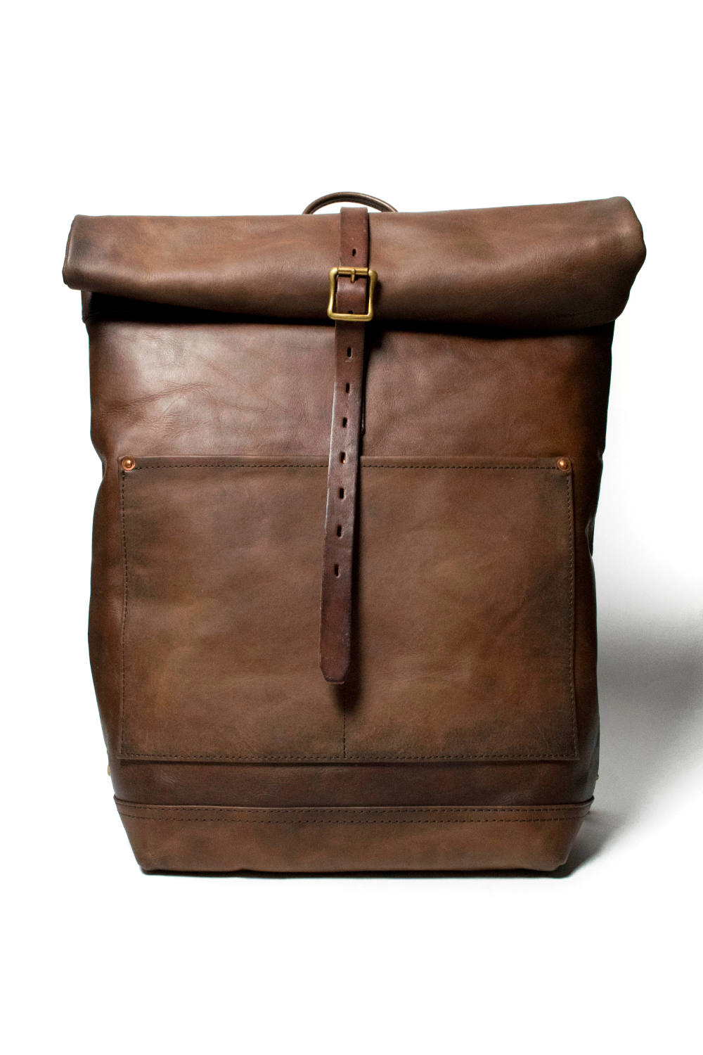 【20AW】レザーロールトップリュックサック [ブラウン] / LEATHER ROLLTOP RUCKSACK [BROWN]