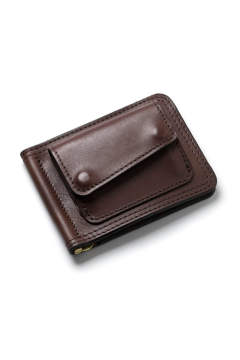 【17AW】レザーマネークリップ+コイン [ブラウン] / LEATHER MONEY CLIP+COIN [BROWN]