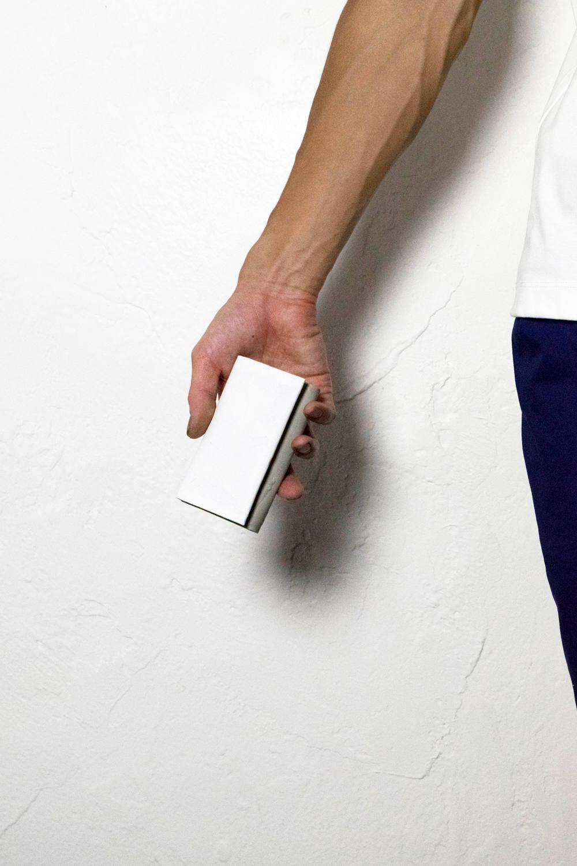 カード&キーケース [ホワイト×グレー] / C&K01-wh/gr