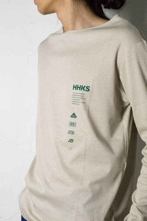 【18AW】HHKS Long_Sleeve Tee [BEIGE] / AW18TO01