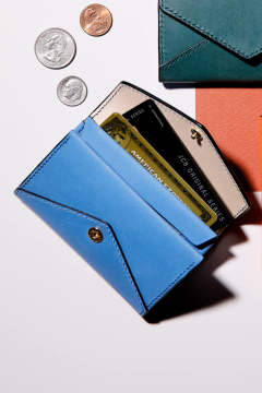【18AW】ENVY CP - Card & coin case [COBALT] / エンヴィー シーピー - 封筒型カード&コインケース [コバルト]