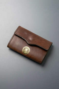 【18AW】レザーネイバルキーケース [ブラウン] / LEATHER NAVAL KEY CASE [CORTESIA]