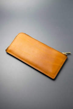 【18AW】レザーボヤージュLジップロングウォレット [ライトキャメル] / LEATHER VOYAGE L ZIP LONG WALLET [MEAL]
