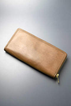 【18AW】レザーボヤージュラウンドジップロングウォレット [オリーブ] / LEATHER VOYAGE ROUND ZIP LONG WALLET [VERDE]