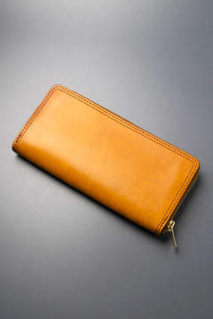 【19SS】レザーボヤージュラウンドジップロングウォレット [ライトキャメル] / LEATHER VOYAGE ROUND ZIP LONG WALLET [MEAL]