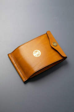 【18AW】レザーネイバルマネークリップ [ライトキャメル] / LEATHER NAVAL MONEY CLIP [MEAL]