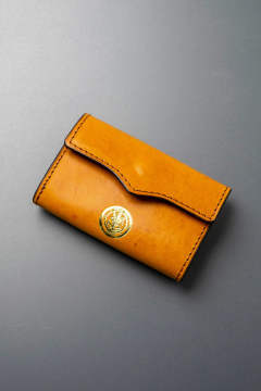 【18AW】レザーネイバルキーケース [ライトキャメル] / LEATHER NAVAL KEY CASE [MEAL]