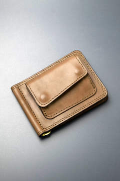 【18AW】レザーマネークリップ+コイン [オリーブ] / LEATHER MONEY CLIP+COIN [OLIVE]