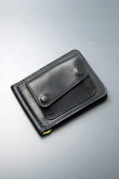 【18AW】レザーマネークリップ+コイン [ネイビー] / LEATHER MONEY CLIP+COIN [NAVY]