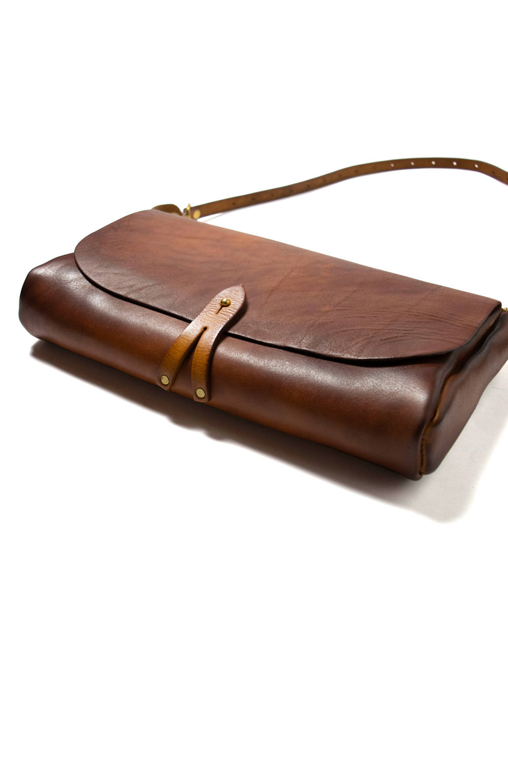 【18AW】レザー3WAYクラッチバッグ [マスタードキャメル] / LEATHER 3WAY CLUTCH BAG [MUSTARD CAMEL]