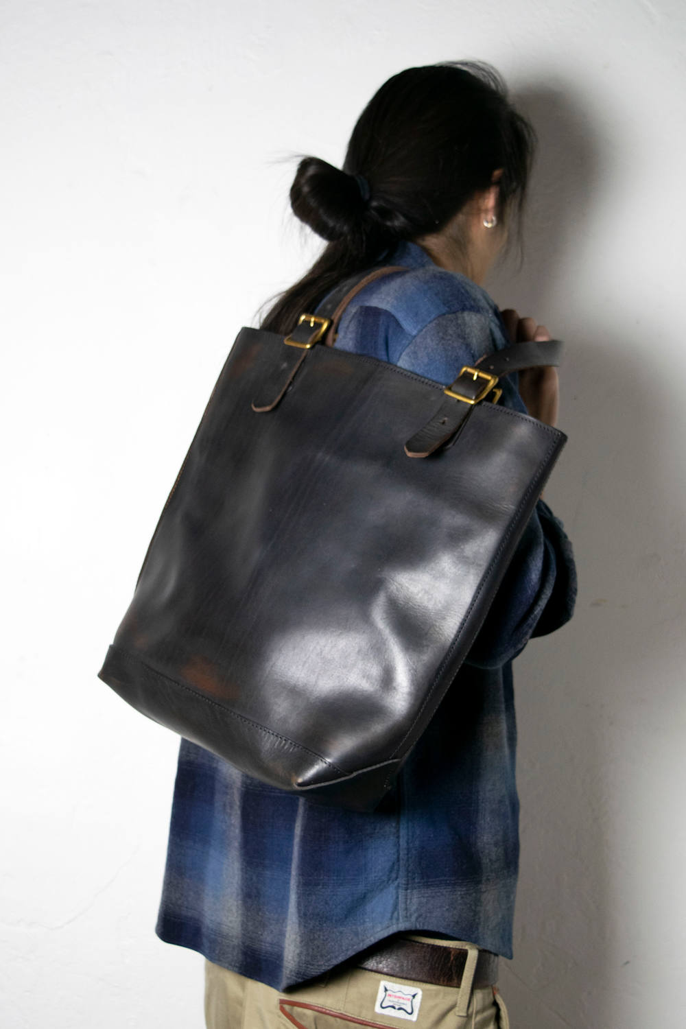 【18AW】レザートラベルトートバッグ - ハイト [ブラック] / LEATHER TRAVEL TOTE BAG - HEIGHT [BLACK]