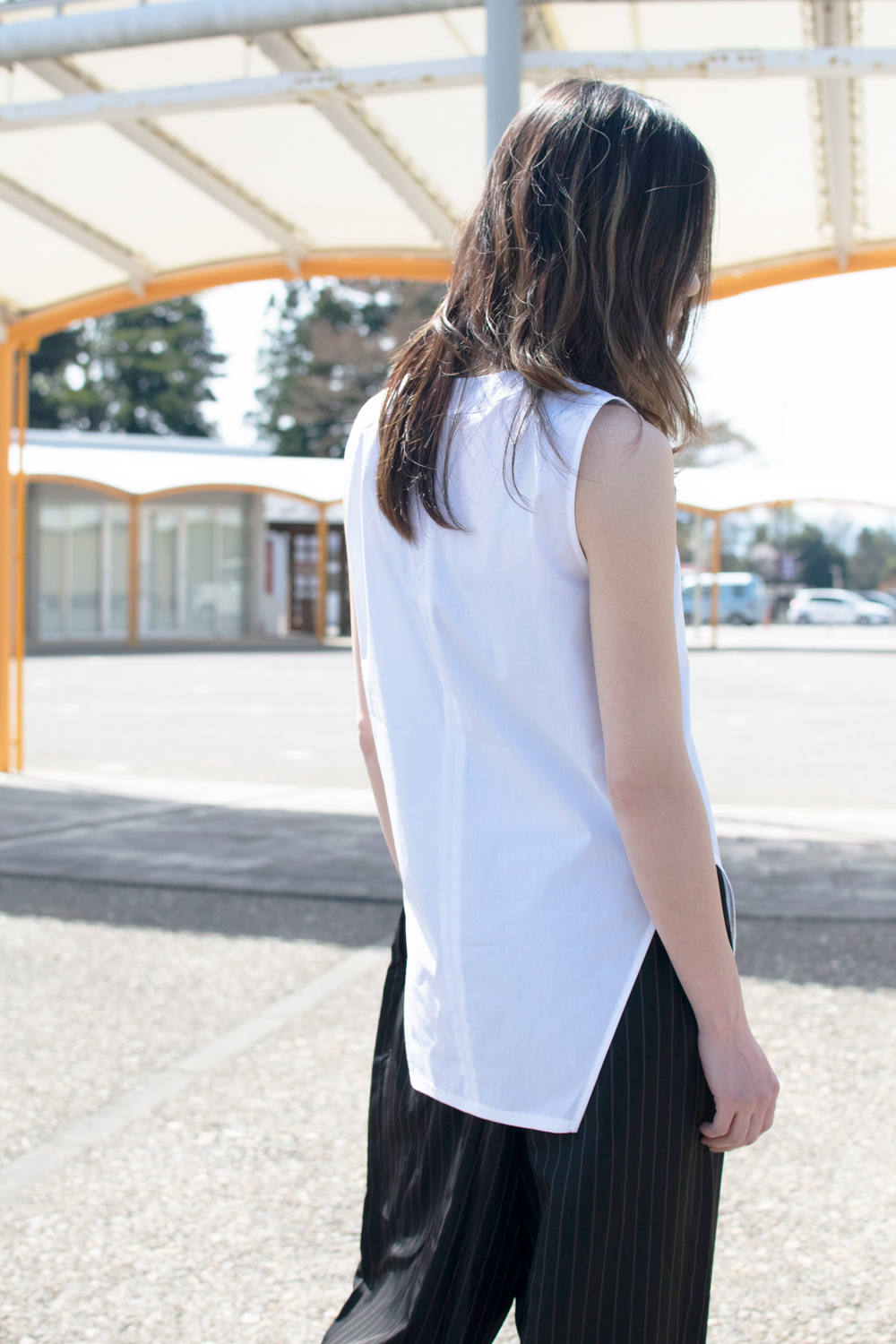 【19SS】Equilibre Tank Blouse / エキリーブルタンクブラウス [WHITE] / SH06W