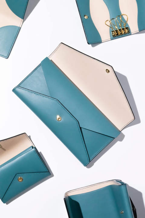 【19SS】ENVY - Long wallet [TURQUOISE] / エンヴィー - 封筒型長財布 [ターコイズ]