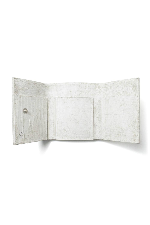 三つ折り豆財布 [ナチュラルホワイト] / mw11-nwh