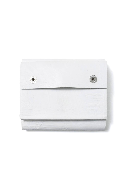 三つ折り豆財布 [ホワイト] / mw11-wh