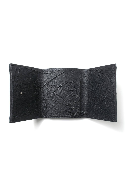 三つ折り豆財布 [ブラック] / mw11-bk