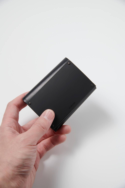ARTICULAR WALLET - C [BLACK MATTE] / アーティキュラーウォレットコンパクト [ブラックマット] | 三つ折り財布