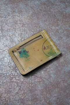 【19AW】ペイントレザーマネークリップ [グリーン] / PAINT LEATHER MONEY CLIP [GREEN]