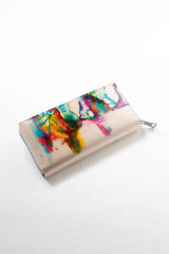 NUME paint long zip wallet / ヌメペイントロングジップウォレット
