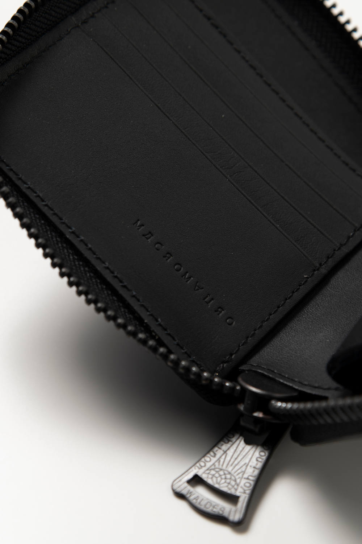 BLACK paint zip wallet / ブラックペイントジップウォレット