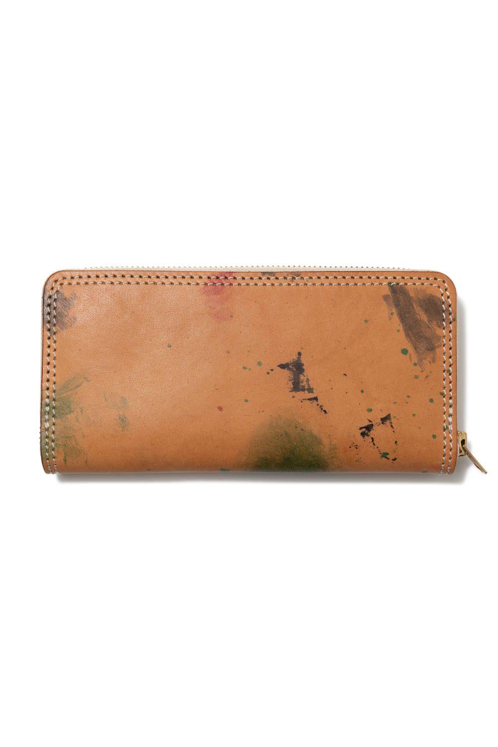 【19AW】ペイントレザーロングウォレット [ナチュラル] / PAINT LEATHER LONG WALLET [NATURAL]