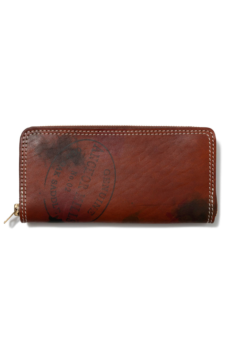 【19AW】ペイントレザーロングウォレット [キャメル] / PAINT LEATHER LONG WALLET [CAMEL]