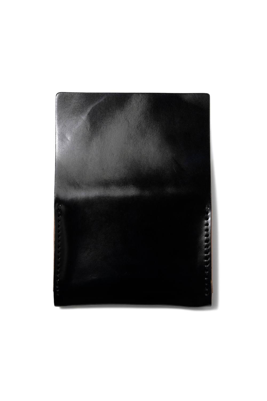 シェルコードバンカードケース [ブラック] / LEATHER GARRISON CARDCASE [NERO]