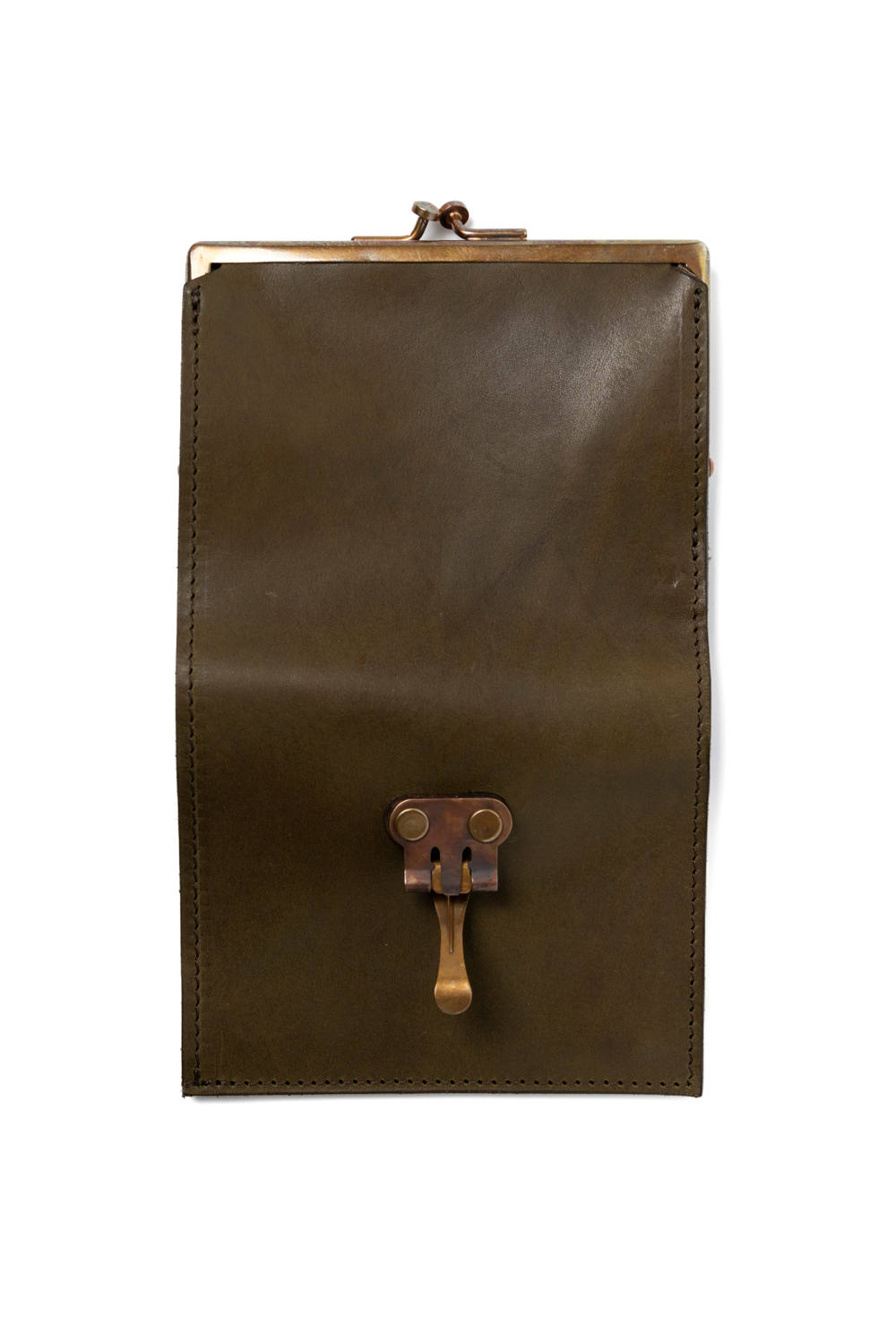 【19AW】レザーボヤージュパースウォレット [オリーブ] / LEATHER VOYAGE PURSE WALLET [VERDE]