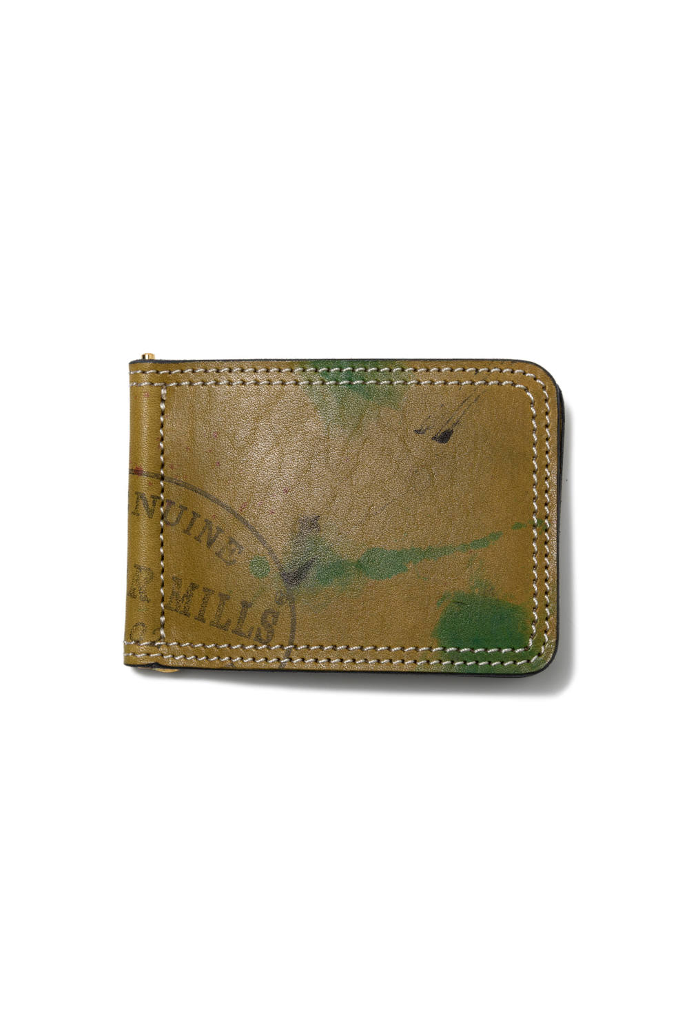 【20AW】ペイントレザーマネークリップ [グリーン] / PAINT LEATHER MONEY CLIP [GREEN]