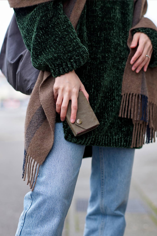 三つ折り財布 [カーキ] / Mini Wallet [KAHKI]