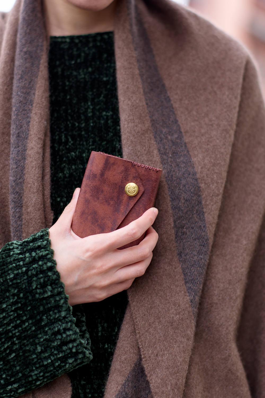 三つ折り財布 [ブラウン] / Mini Wallet [BROWN]