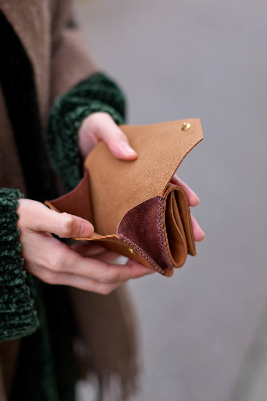 三つ折り財布 [キャメル] / Mini Wallet [CAMEL]