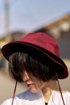 【20SS】DOUBLE BUCKET HAT - ダブルバケットハット [MAROON]